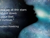 Stephen Hawking: Guardate in alto verso le stelle! - Look up at the stars!