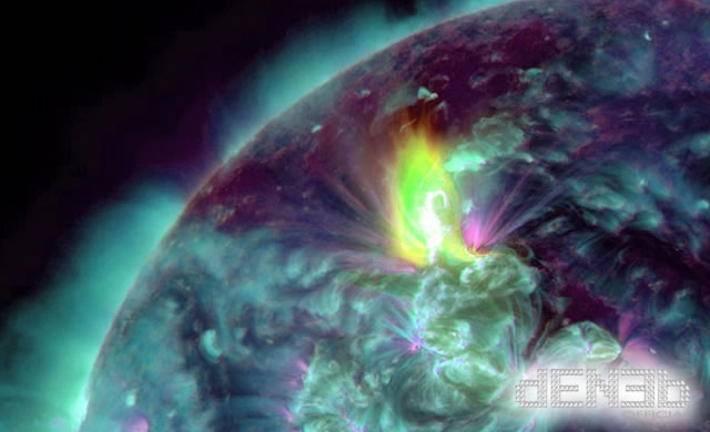 Long Duration M3.2 Class Solar Flare and CME