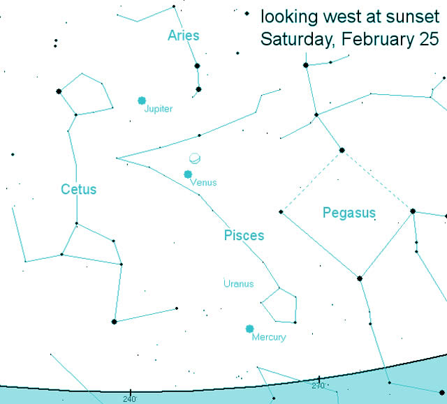 Planets Align February 25: Venus, Jupiter, Moon To Converge - L'allineamento di Venere, Giove e Luna
