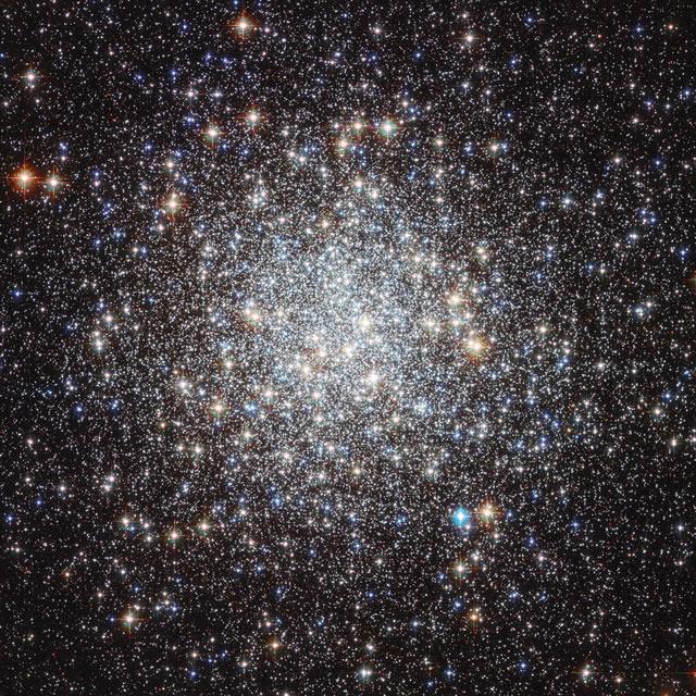Ammasso Stellare Arcobaleno brilla in una splendida immagine di Hubble - Rainbow Star Cluster Sparkles in Stunning Hubble Photo