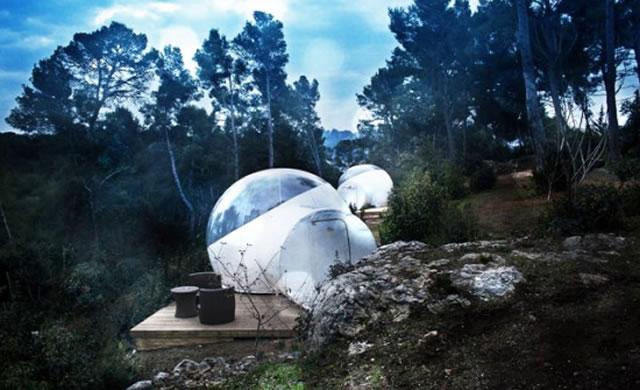 Design: A transparent bubble tent to see the stars - Una bolla trasparente per ammirare le stelle