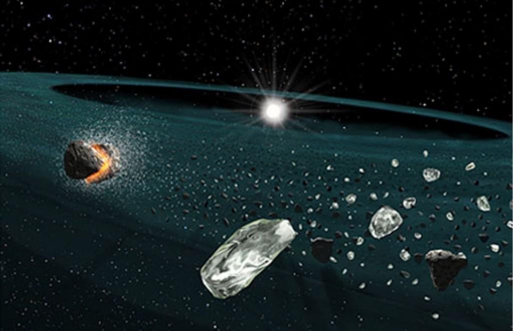 Astronomers discover a rare stellar disk of quartz dust - Astronomi Scoprono Un Rarissimo Disco Stellare Fatto di Polvere di Quarzi