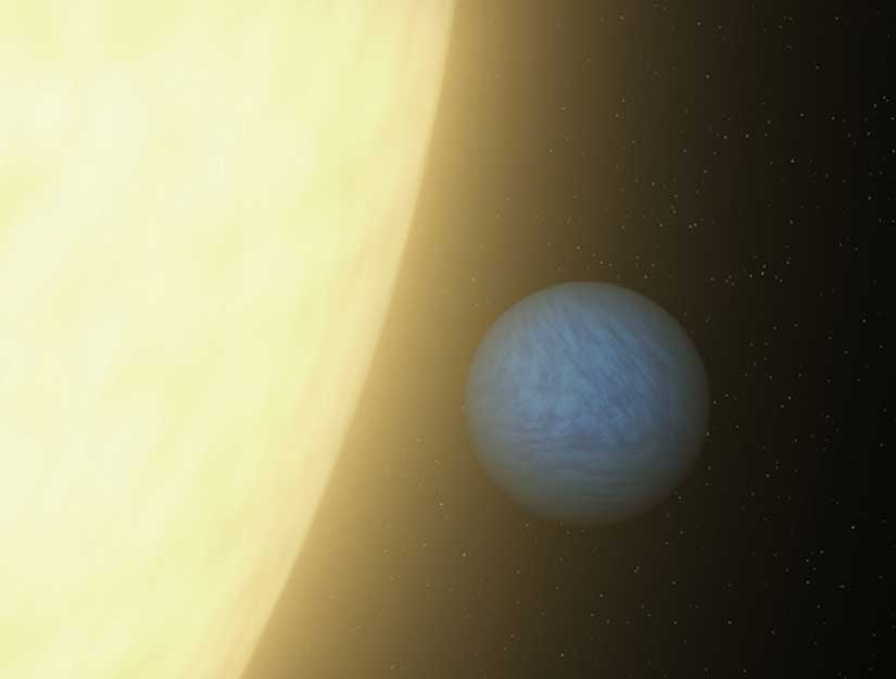 Light from small, oozing alien Planet seen - C'è luce su un pianeta alieno