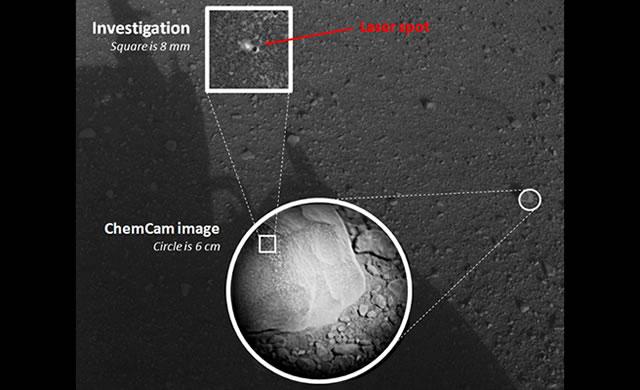 #Curiosity Zaps First Martian Rock - #MSL Curiosity ha sparato il suo laser contro la sua prima roccia Marziana