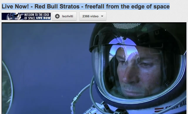 Live Now! - Red Bull Stratos - freefall from the edge of space
