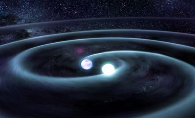 A caccia delle onde gravitazionali prodotte dalle stelle - Space-Warping White Dwarfs Produce Gravitational Waves