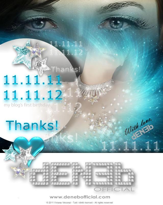 11.11.11 - 11.11.12 - Oggi è il primo compleanno del mio blog! - It's my blog's first birthday today!