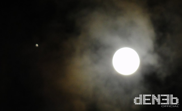 Luna piena e Giove - Full Moon and Jupiter