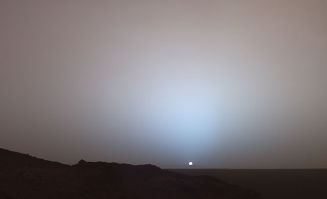 Tramonto su Marte - Sunset on Mars