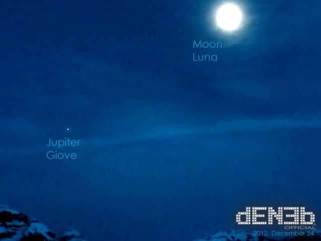 2012 Congiunzione di Natale: Luna & Giove - 2012 Christmas conjunction: Moon & Jupiter