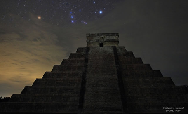 2012 December 21, Orion over El Castillo - 21 Dicembre 2012, Orione sopra a El Castillo