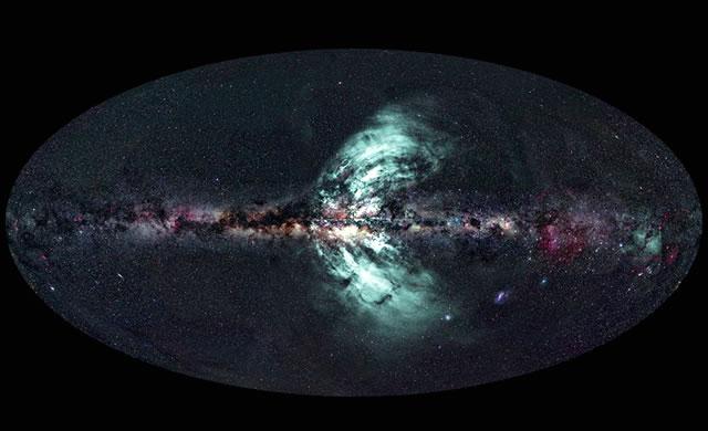 Via Lattea: emissioni di raggi gamma, come geyser spaziali. - Giant Gas Geysers Erupting from Milky Way Galaxy
