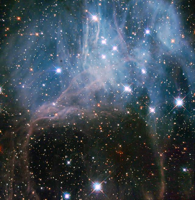 Hubble: dentro a una nube stellare - Hubble: inside a stellar cloud
