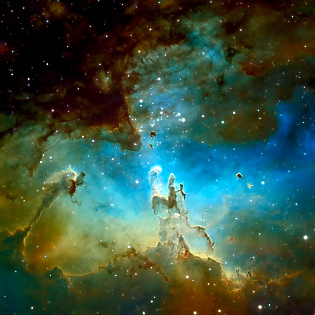 M16: Formazione Stellare nella Nebulosa Aquila - M16: The Pillars of Eagle Castle