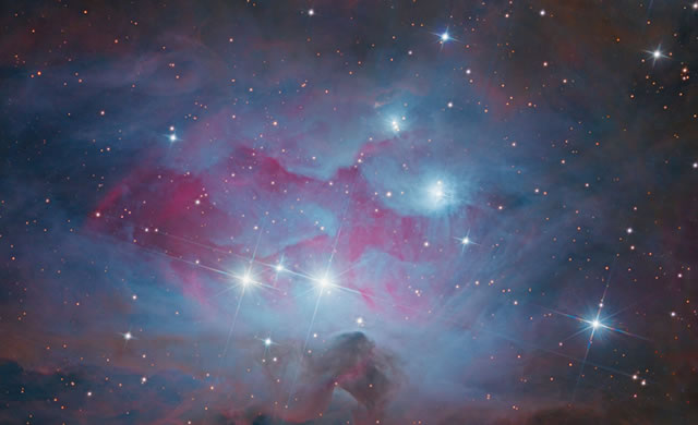 Straordinaria immagine della nebulosa Running Man - Stargazers Capture Stunning Running Man Nebula Photo
