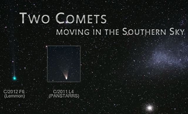 Seguendo le due Comete del 2013: Lemmon e PanSTARRS - Two comets: C/2012 F6 (Lemmon) and C/2011 L4 (PanSTARRS)