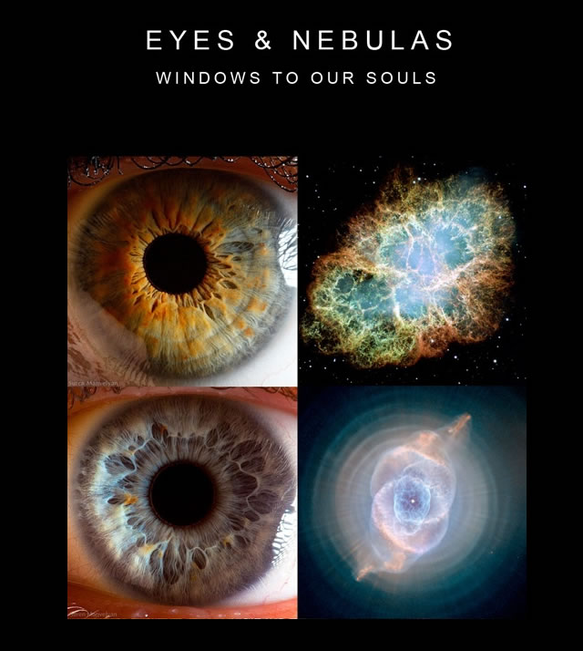 Finestra dell'Anima: Occhi e Nebulose  - Window to the Soul: Eyes and Nebulas