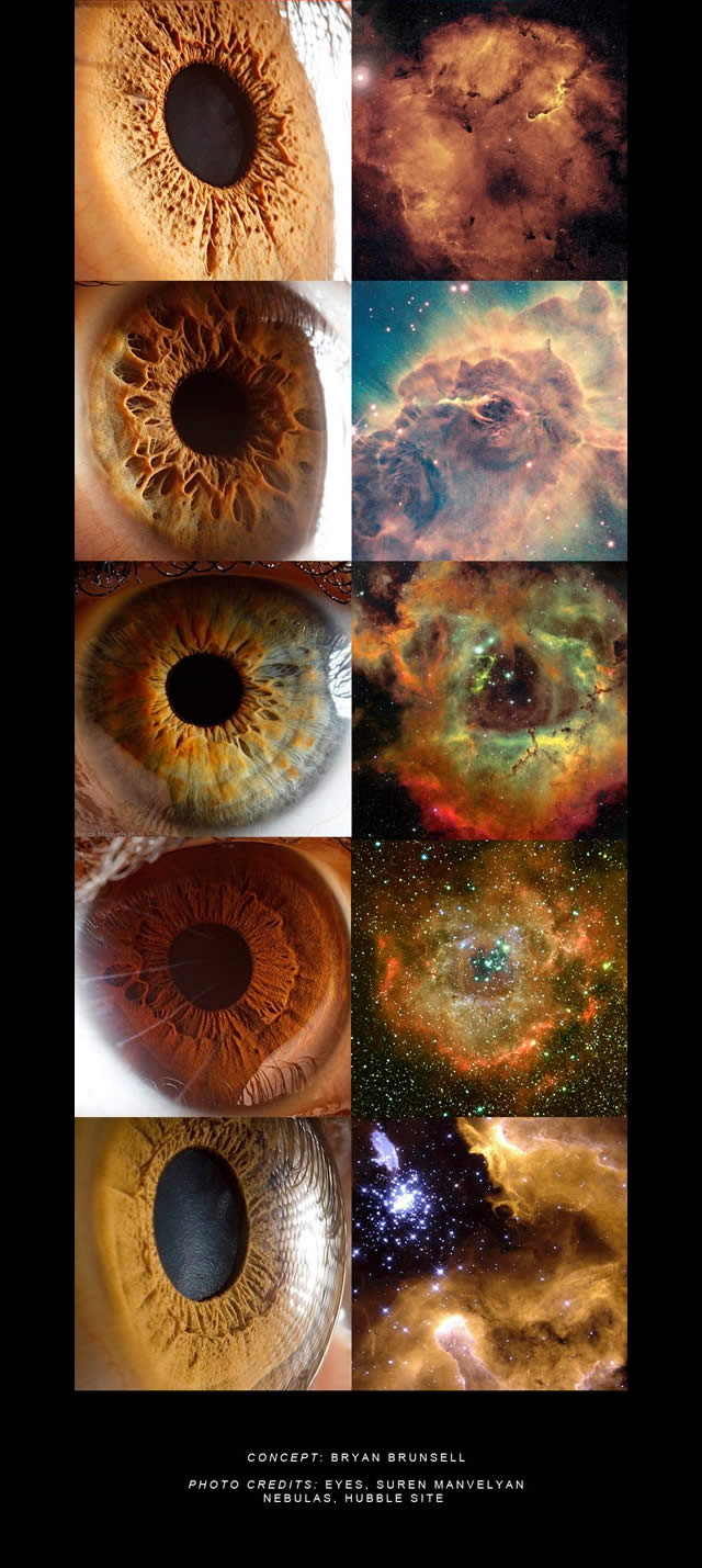 La nostra Finestra sull'Anima: Occhi e Nebulose  - Window to our Soul: Eyes and Nebulas