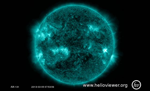 Attività solare: Solar Flare di classe M1 - Space Weather: M1-Class Solar Flare