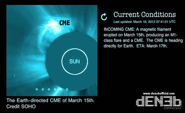 Attività Solare - CME diretta verso la Terra: Tempesta Geomagnetica Polare in arrivo per il 17 Marzo :: Space Weather - Earth-directed CME: polar geomagnetic storms arrives on March 17th