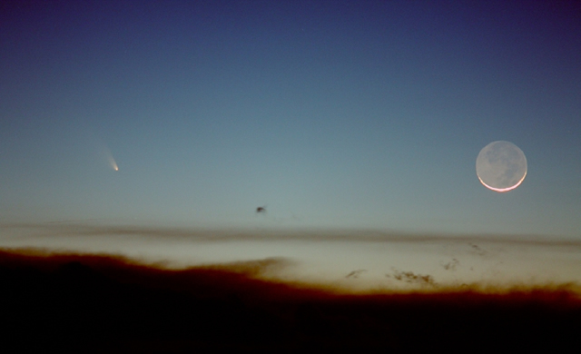La Cometa e la Luna - Comet PanSTARRS And The Moon