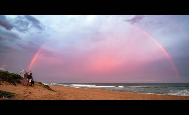 Doppio Arcobaleno Rosa sopra Glen Ashley, Sud Africa - Double Pink Rainbow Over Glen Ashley, South Africa