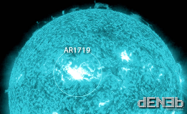 Attività Solare: AR1719 Regione attiva forse per flare di classe X - Space Weather: AR1719 has energy for X-class solar flare
