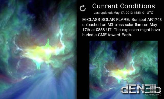 Attività Solare: AR1748, Nuovo Solar Flare Classe M3 - Space Weather: AR1748 M3-class solar flare
