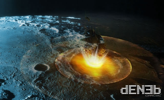 Roccia Enorme si schianta sulla Luna creando una Gigantesca Esplosione - Huge Rock Crashes Into Moon, Sparks Giant Explosion