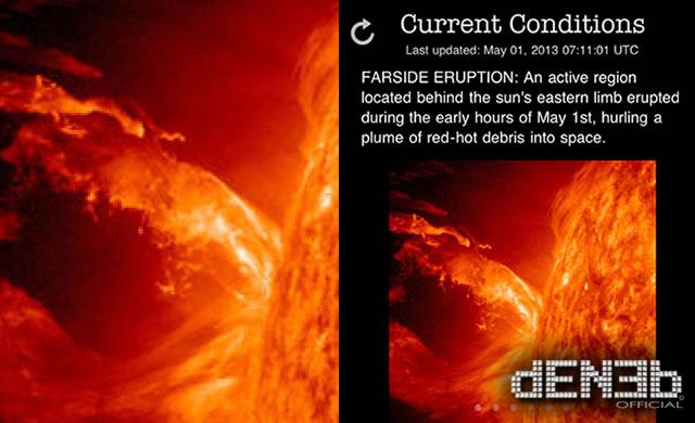 Attività Solare: Due regioni attive con forte energia. Iniziamo Maggio con un solar flare? - Will May begin with a solar flare?