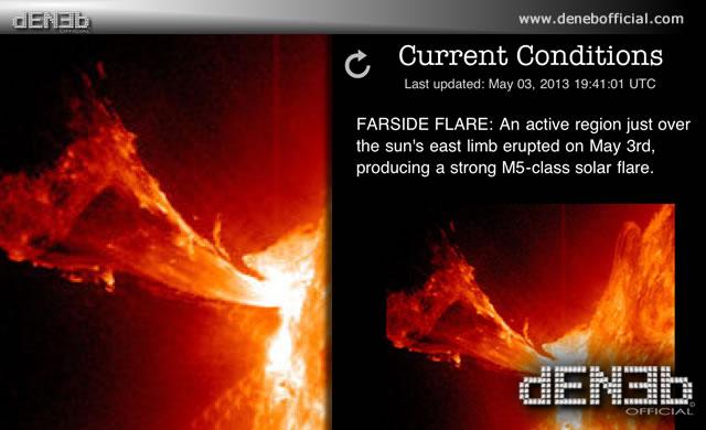 Attività Solare: Dopo un solar flare di Classe M1.1 eccone un altro M5.7 - Space Weather: M5.7 flare peaked at 3 May 1732 UT