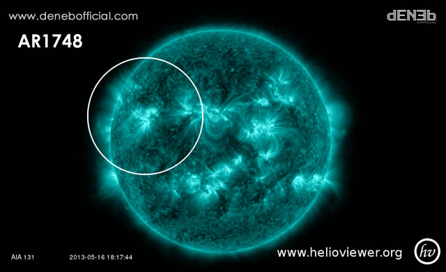 Attività Solare: AR1748 ha ancora energia per Solar Flares di Classe X - Space Weather: AR1748 has a dela-class magnetic field that harbors energy for X-class solar flares