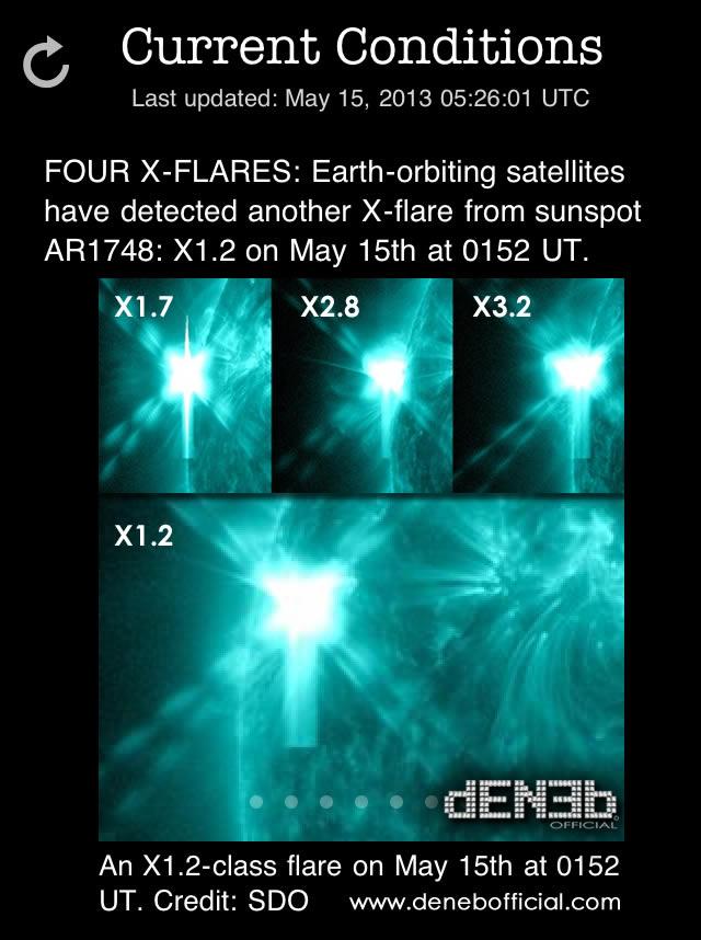 Quattro X Flares! Oggi nuovo brillamento solare di Classe X1.2 - Four X-Flares: An X1.2-Class Solar Flare on May 15th