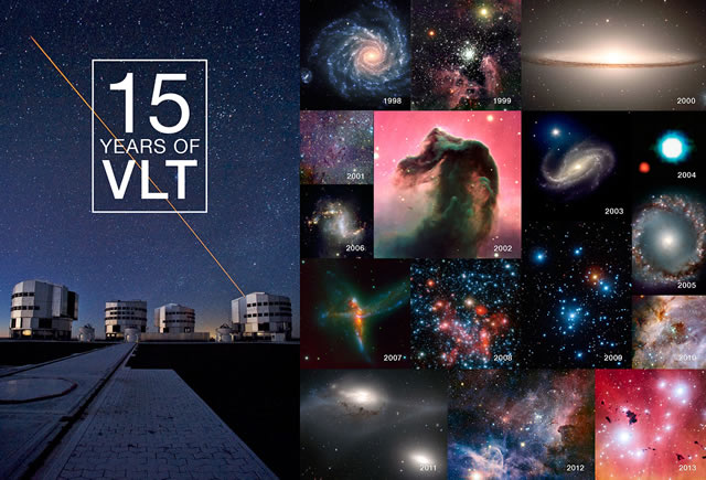Il Very Large Telescope dell'ESO celebra 15 anni di successi - ESO's Very Large Telescope Celebrates 15 Years of Success