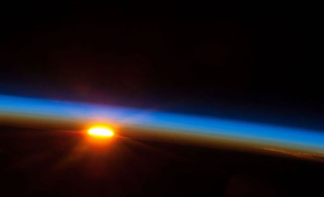Sunrise and Sunset from Space