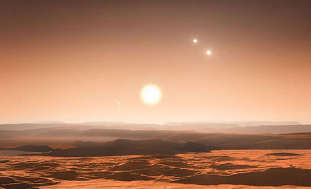 ESO: Tre pianeti nella zona abitabile di una stella vicina — Riesaminata Gliese 667C - Three Planets in Habitable Zone of Nearby Star — Gliese 667C reexamined