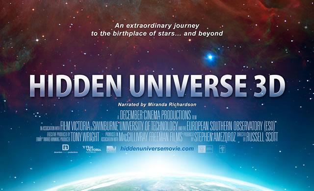 """ESO: Prima mondiale del Film """"Universo Nascosto"""" per IMAX® 3D - World Premiere of IMAX® 3D Film Hidden Universe"""