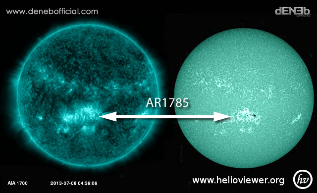 Attività Solare: La gigantesca Macchia Solare AR1785 è ora Fronte Terra - Space Weather: Big Sunspot AR1785 Faces Earth