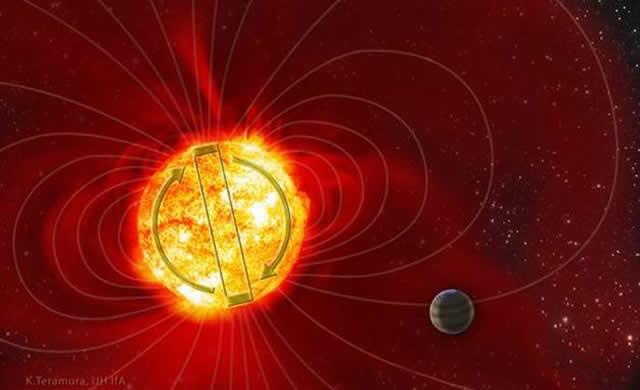 """Sconcertante Attività """"Solare"""" della Stella Tau Boo -  Star Tau Boo's baffling magnetic flips"""