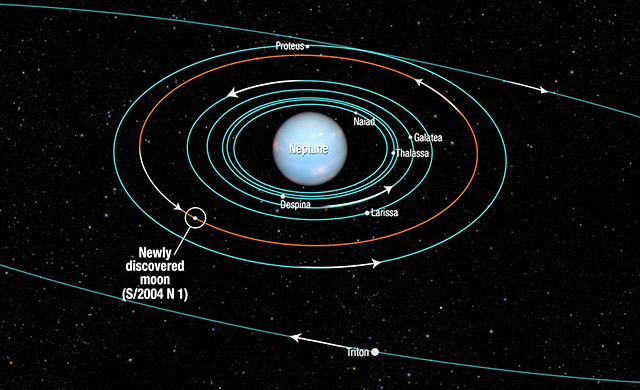 Il Telescopio Spaziale Hubble scopre una nuova luna di Nettuno - Hubble finds new Neptune moon