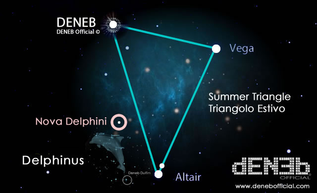 Costellazione del Delfino: E' nata una Stella! - A New Nova has appeared in the Constellation Delphinus.