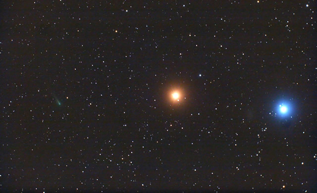 La Cometa ISON, Marte e la Stella Regolo - Comet ISON, Mars, Regulus