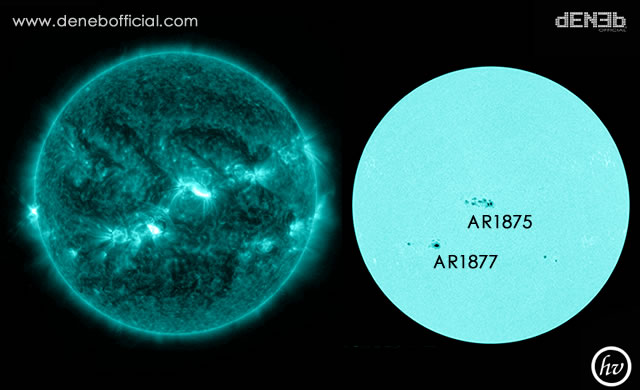 Attività Solare: Forte Brillamento Solare M9 - Space Weather: AR1877 produced a Strong M9 Solar Flare