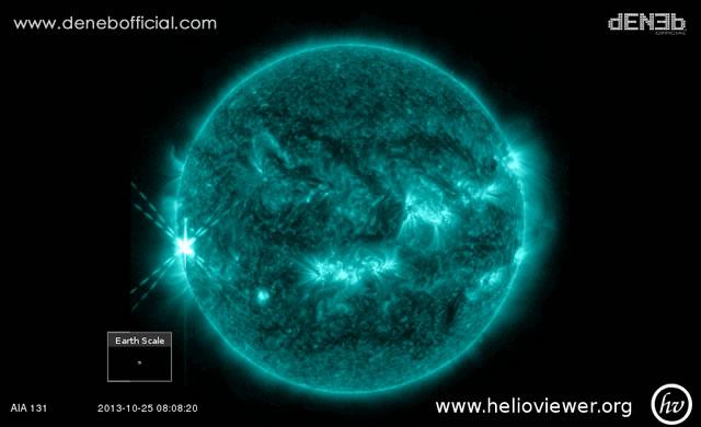 Attività Solare: Secondo Brillamento di Classe X2.13 - Space Weather: X2.13 Class flare