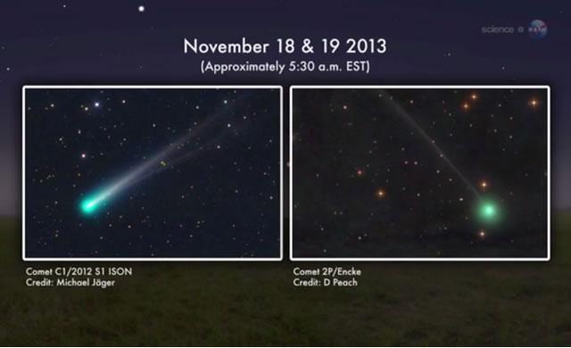 18 e 19 Novembre: Non Una ma Due Comete passeranno vicine al Pianeta Mercurio - On Nov. 18th and 19th Not One but Two Comets will fly by the Planet Mercury.