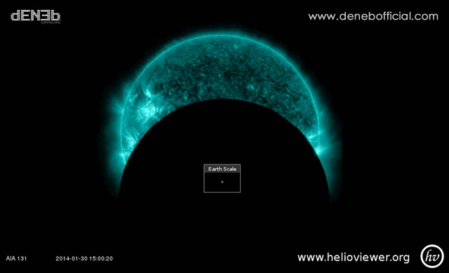 Succede adesso: Il Transito della Luna sul Sole - Lunar Transit of The Sun, Underway Now