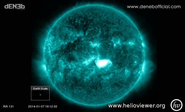 à Solare: Fronte Terra AR1944 esplode con un brillamento X1.25 - Space Weather: Active Region 1944 produced an X1.2 solar flare