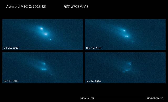Grazie ad Hubble, gli Astronomi assistono ad una misteriosa e mai vista prima, disintegrazione di un asteroide - Astronomers witness mysterious, never-before-seen disintegration of asteroid