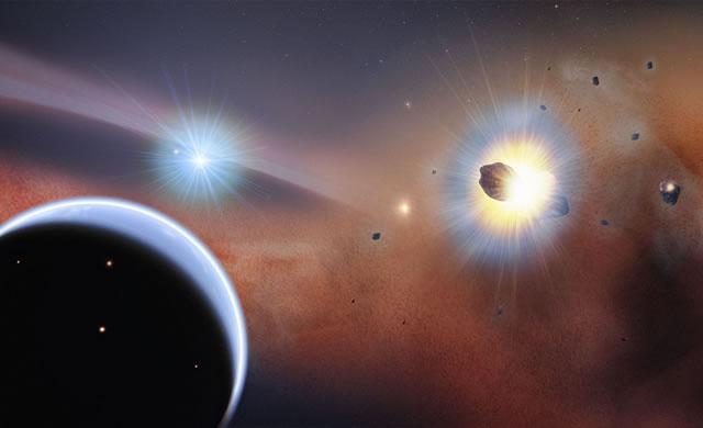 ESO: Gli scontri di comete spiegano l'inaspettato grumo di gas vicino a una giovane stella - Crashing Comets Explain Surprise Gas Clump Around Young Star
