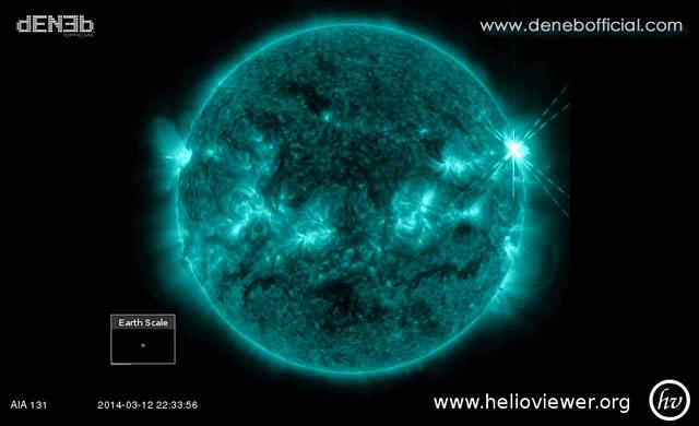 Attività Solare: Solar Flare M9.3 (quasi classe X) - Space Weather: M9.3 (almost X-class) Solar Flare